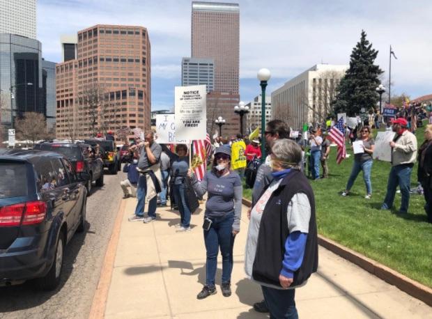 CoronaVirus Protest Denver Apr 19 2020